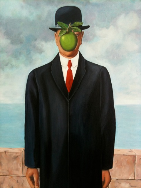Reproductie van R. Magritte