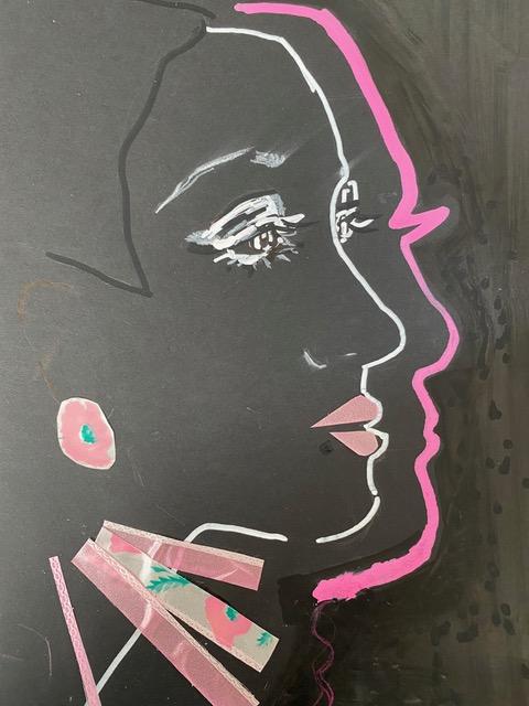 Sandra Burchartz collage dubbel profiel