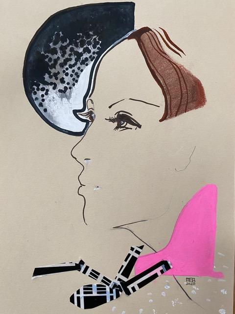 Sandra Burchartz collage en profil