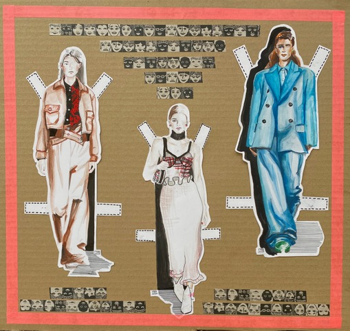Catwalk Fashion paper dolls