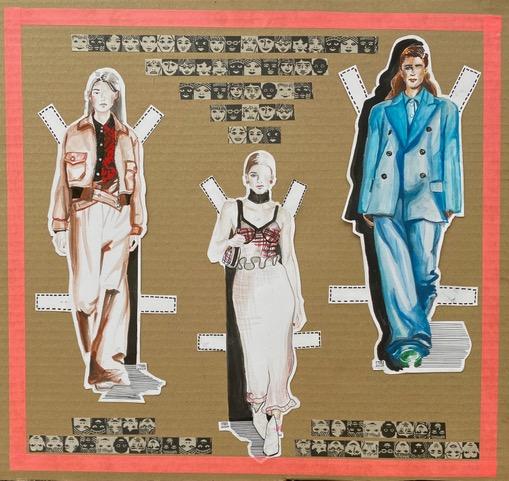 Catwalk Fashion paper dolls