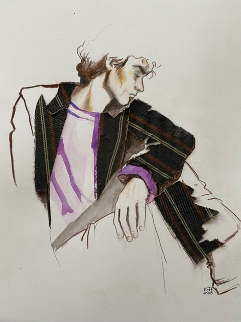 Fashion collage jongen