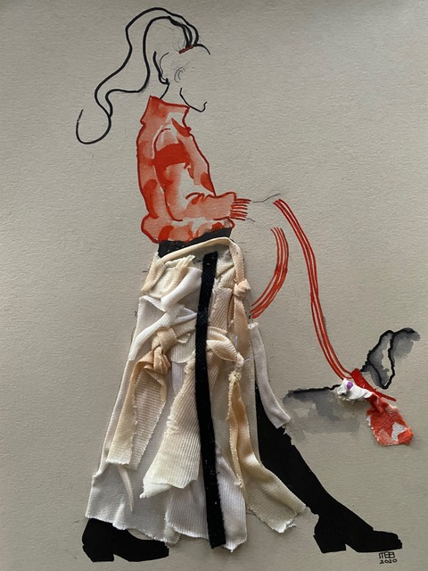 Fashion collage staand hond